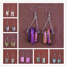 Load image into Gallery viewer, Rock Crystal Dyed Drop Earrings - TAIGS000