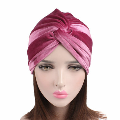Velvet Cross Turban - TAIGS000