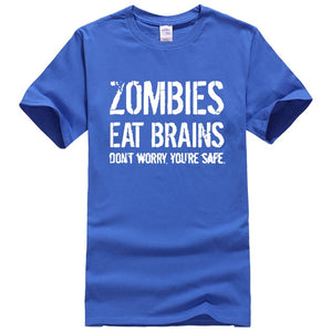 Zombies Eat Brains printed T-shirt - TAIGS000