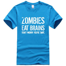 Load image into Gallery viewer, Zombies Eat Brains printed T-shirt - TAIGS000
