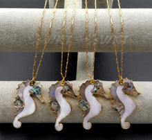 Load image into Gallery viewer, Natural abalone sea horse necklace - TAIGS000