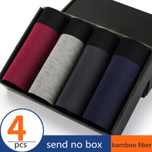 Load image into Gallery viewer, 4pcs/lot Bamboo Fiber Men's Underwear - TAIGS000