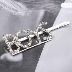 Rhinestone Word Barrette - TAIGS000