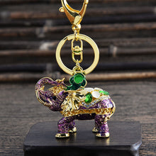 Load image into Gallery viewer, 3D Enamel Elephant Keychain - TAIGS000