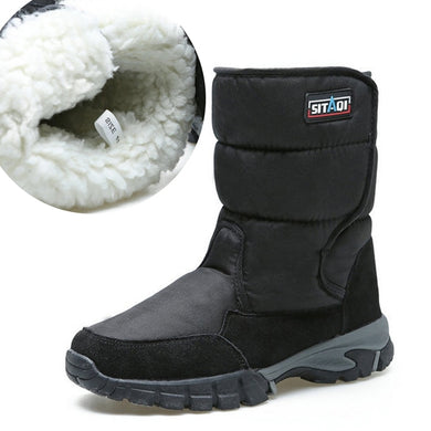 Waterproof snow boots men