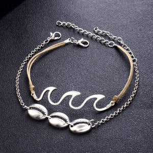 Beach Wave Shell Anklet - TAIGS000
