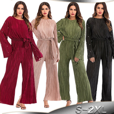 Pleated Wide Leg Jumpsuit - TAIGS000