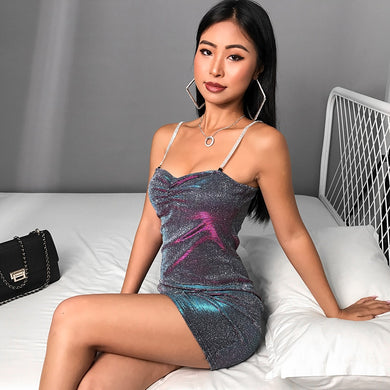 Bodycon Glitter Dress - TAIGS000