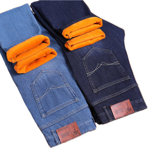 Velvet Warm Denim Trousers Men - TAIGS000