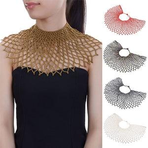 Feather Collar Choker Necklace - TAIGS000