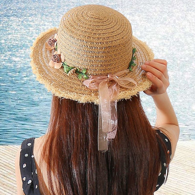 Short Eaves Raffia Straw Hat - TAIGS000