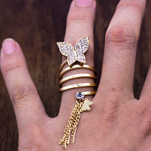 Load image into Gallery viewer, Big Butterfly Tassel Ring - TAIGS000
