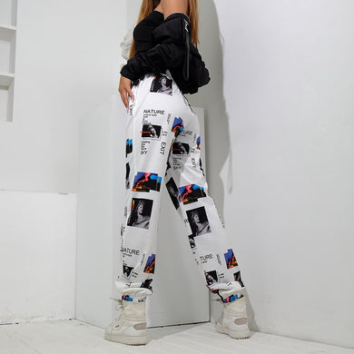 Printed Baggy Joggers - TAIGS000