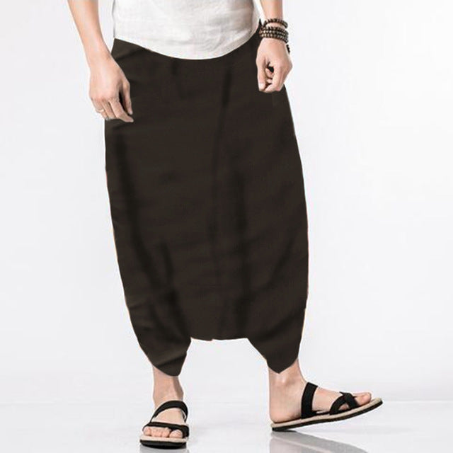 Men's Solid Harem Pants - TAIGS000