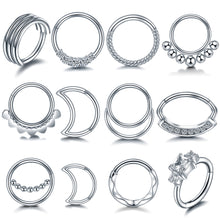 Load image into Gallery viewer, 316L Stainless Steel Septum Nose Rings - TAIGS000