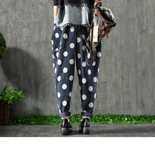 Load image into Gallery viewer, Dot Print Casual Corduroy Pants - TAIGS000