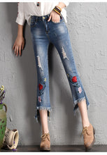 Load image into Gallery viewer, Embroidered Slim fit Jeans - TAIGS000