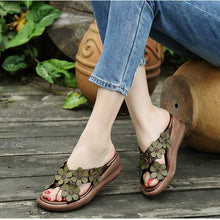 Load image into Gallery viewer, Retro Leather Slippers - TAIGS000