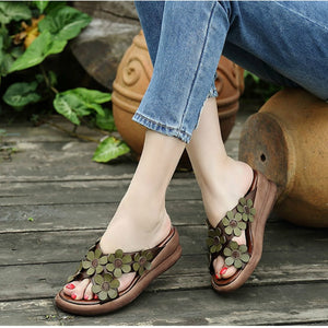 Retro Leather Slippers - TAIGS000