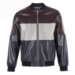 Patchwork Leather Jacket - TAIGS000