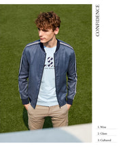 Load image into Gallery viewer, Linen Baseball Jacket - TAIGS000