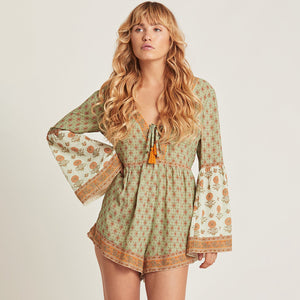 Long Bell Sleeve Playsuit - TAIGS000