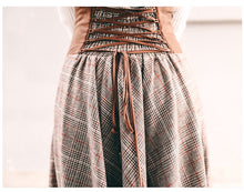 Load image into Gallery viewer, Retro Tartan Woolen Skirt - TAIGS000