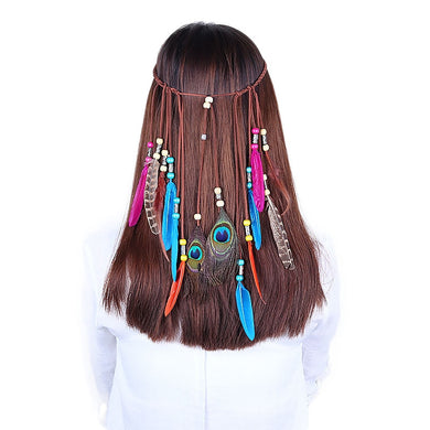 Ethnic Feather Headband - TAIGS000