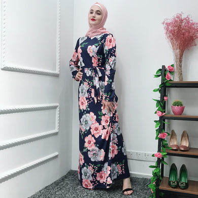 Flower Maxi Dress Abaya - TAIGS000