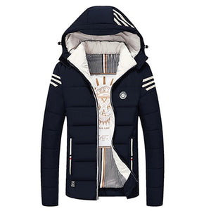Slim Mens Hooded Parka - TAIGS000