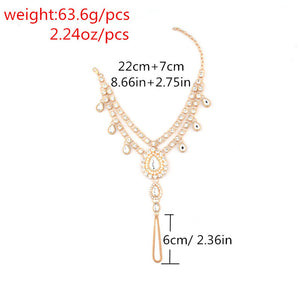 Rhinestone Wedding Toe Ring Anklets - TAIGS000
