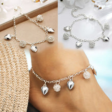 Load image into Gallery viewer, Silver Heart Anklets - TAIGS000