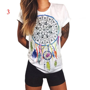 Boho Basic Printed Tee - TAIGS000