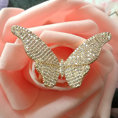 Luxury Big Butterfly Adjustable Women Rings - TAIGS000