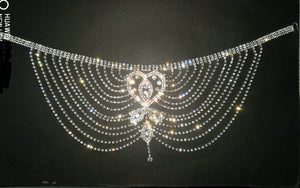 Crystal Rhinestone Chain Flapper Cap - TAIGS000