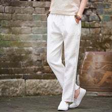 Load image into Gallery viewer, Elastic Waist Linen Capris With Pockets - TAIGS000