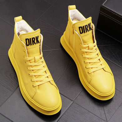 Men High Top Leisure Sneakers