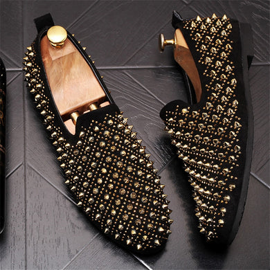 Luxury Designers Men Spike Shoes