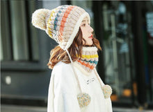 Load image into Gallery viewer, Winter Women Knitted Hat Scarf 2Pcs Set - TAIGS000