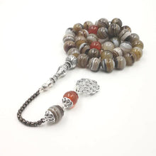 Load image into Gallery viewer, Tasbih Natural Agates 33 66 99 beads Rosary - TAIGS000