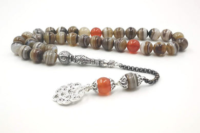 Tasbih Natural Agates 33 66 99 beads Rosary - TAIGS000