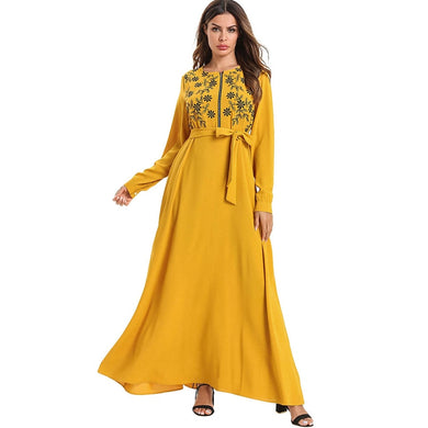 Plus Size Embroidered Kaftan - TAIGS000