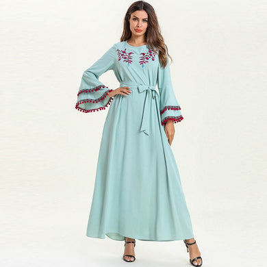 Flare sleeves Kaftan Abaya - TAIGS000