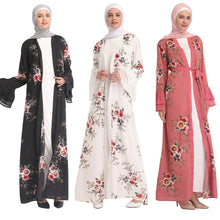 Load image into Gallery viewer, Turkish Lace Embroidered Abaya - TAIGS000