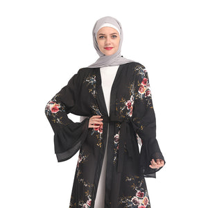 Turkish Lace Embroidered Abaya - TAIGS000