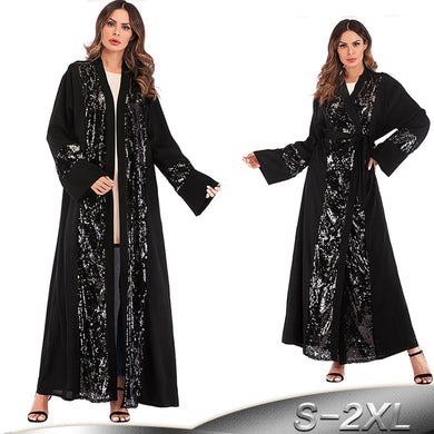 Sequined Cardigan Abaya - TAIGS000