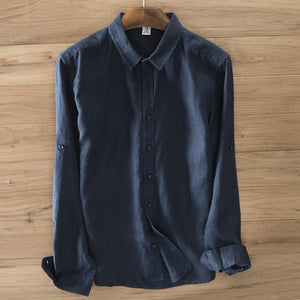 Linen long sleeve Shirt Men's - TAIGS000