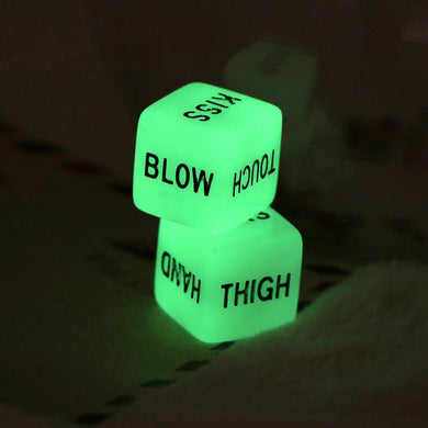 Funny Glow In Dark Love Dice Set - TAIGS000