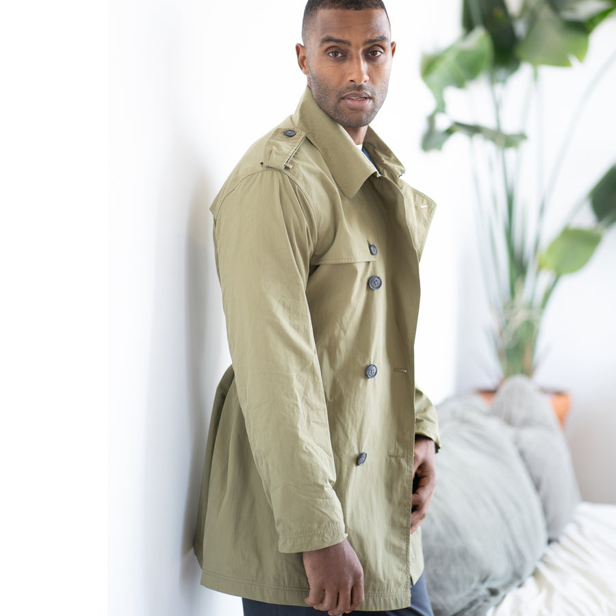 Entrenched Trench Jacket - Olive