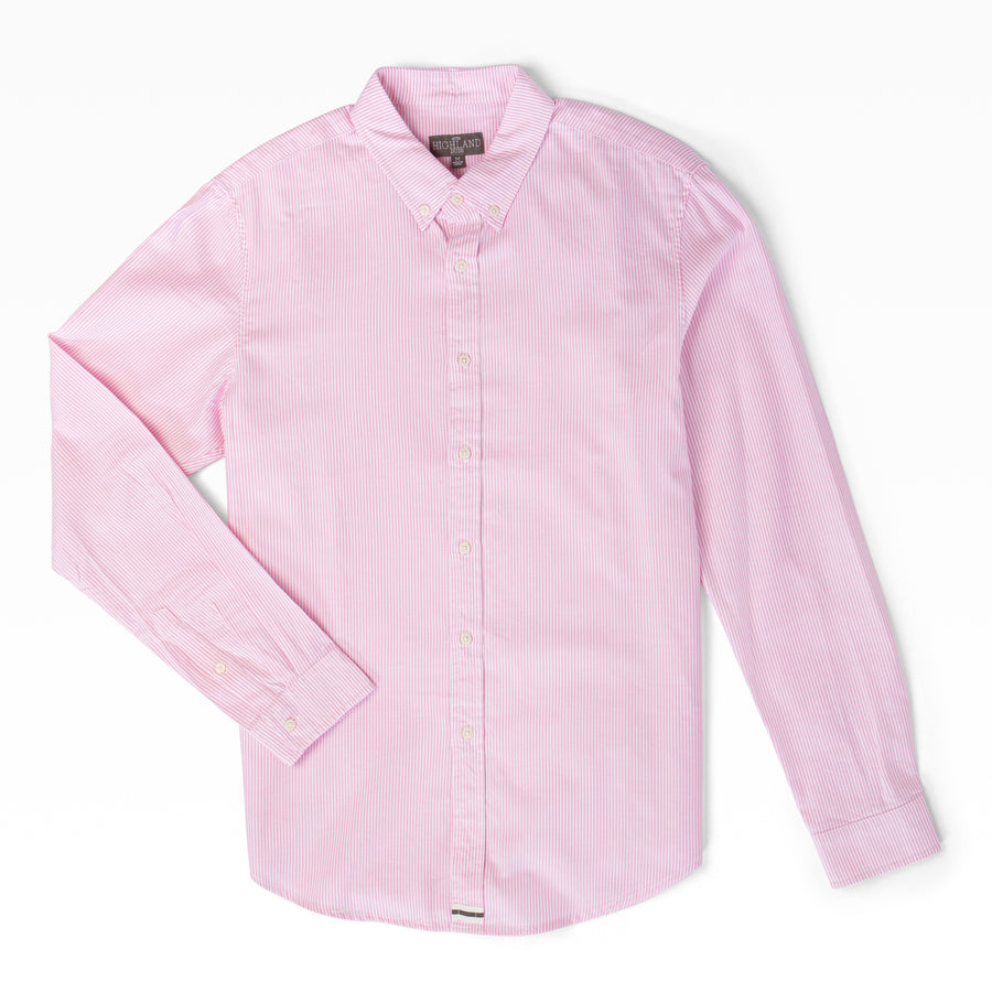 Fine Line Long Sleeve Shirt - Pink